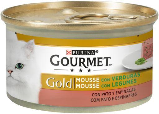 Gold Mousse con Pato y Espinacas