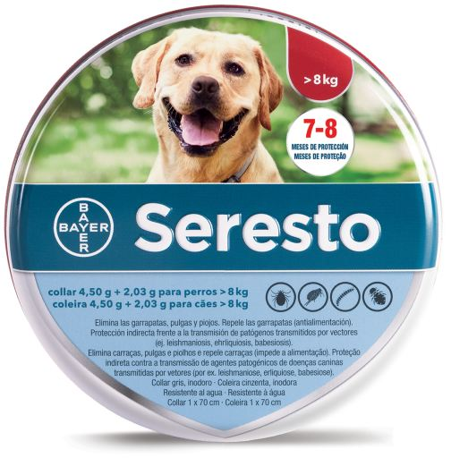 Collar antiparasitario para perros