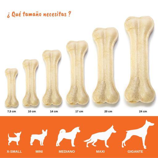 YOMMY Hueso Prensado Piel de Vacuno para Perros Delicioso Snack Hueso Antiestr/és Fortalecedor de Dientes