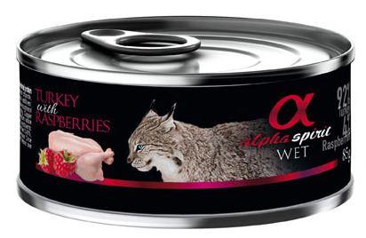 Comida Húmeda para Gatos de Pavo con Frambuesas